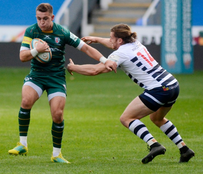 181027 - London Irish (green) v Yorkshire Carnegie - pics by Paul Johns